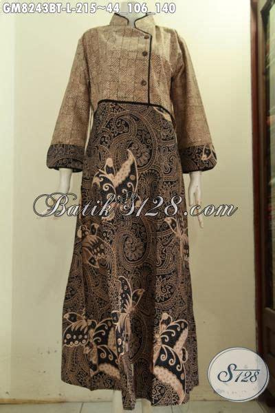 model baju batik modis wanita muslimah gamis batik