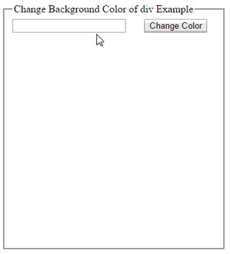 jquery background color change the background color of div using jquery