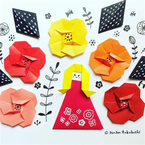 Origami Papercraft - 842 best origami flowers plantas images on