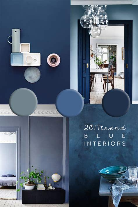 blue interior trend paint  home decor inspiration  blue