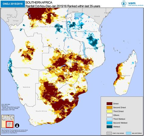 southern africa map el ni 241 o devastating impact on southern africa s harvests