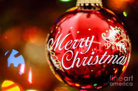 merry christmas ornament photograph by oscar gutierrez