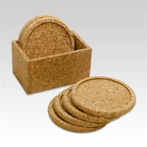Waterproof Cork Drink Coasters with Box   Bangor Cork
