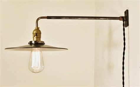 Amazing Best Bathroom Fixtures #5: Inspiring-plug-in-wall-sconce-simple-design-steel-with-glass-lamp.jpg