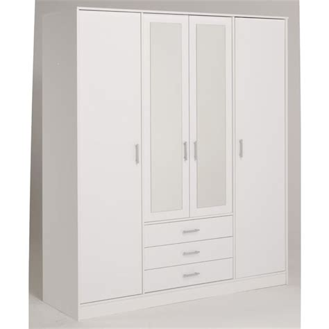 armoire blanche pas cher 3762 essentielle armoire blanche 4 portes 4 233 tag 232 res achat