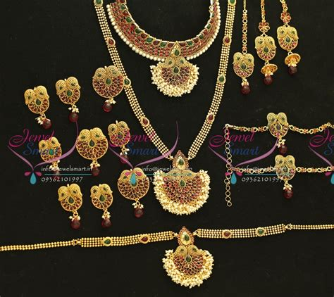 Set Bridal India Kalung India Premium Aamh021 w5667 bridal indian traditional grand wedding jewellery antique gold plated
