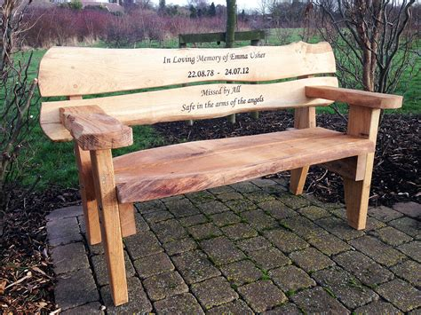 memory benches personalized wooden memorial benches for gardens garden ftempo
