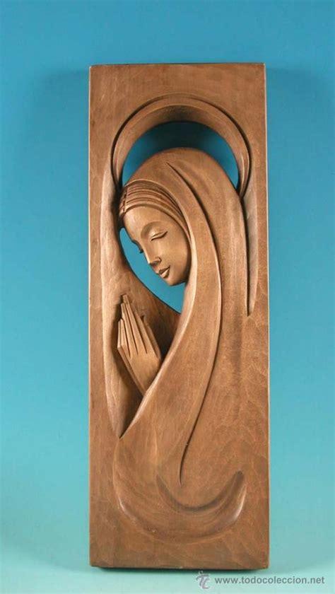 imagenes religiosas en madera preciosa virgen relieve tallado en mader comprar