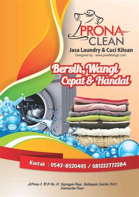 contoh desain brosur laundry contoh brosur flyer laundry menarik untuk promosi