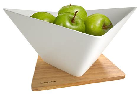 modern fruit forminimal draining fruit bowl and mat modern fruit
