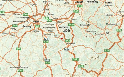 spa belgium map spa location guide