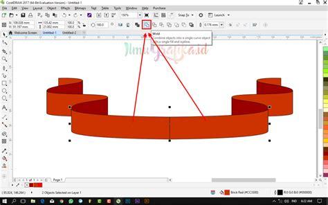 tutorial coreldraw membuat banner tutorial coreldraw vektor membuat banner pita dengan