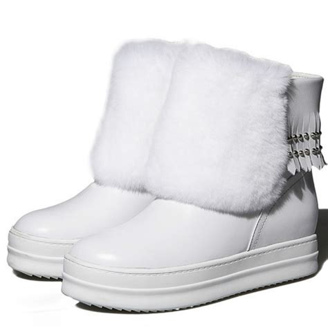 white fur wedge boots promotion shop for promotional white