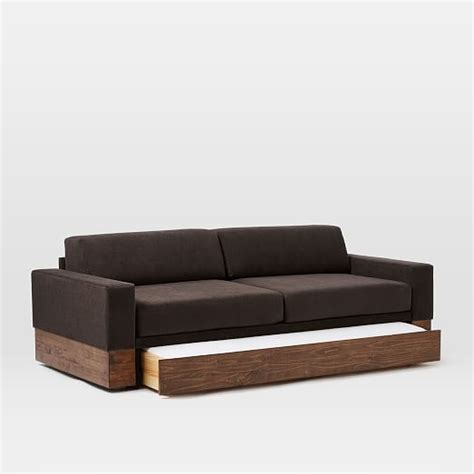 day bed sofas emery sofa daybed trundle west elm