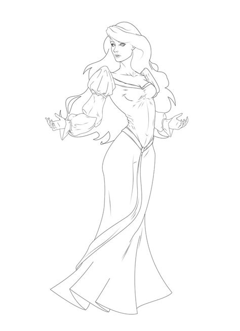 coloring pages swan princess odette the swan princess lineart refined by leo888 on