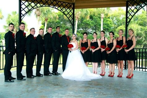 black and red wedding party wedding ideas pinterest