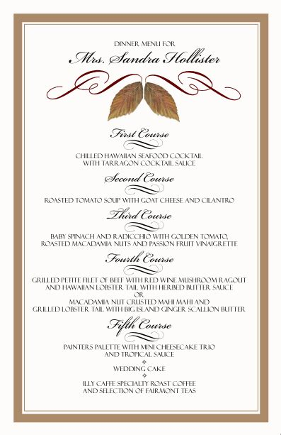 menu cards template wedding reception restaurant menu card templates