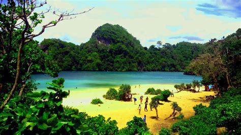 unduh wallpaper alam pulau sempu malang tempat wisata foto gambar wallpaper