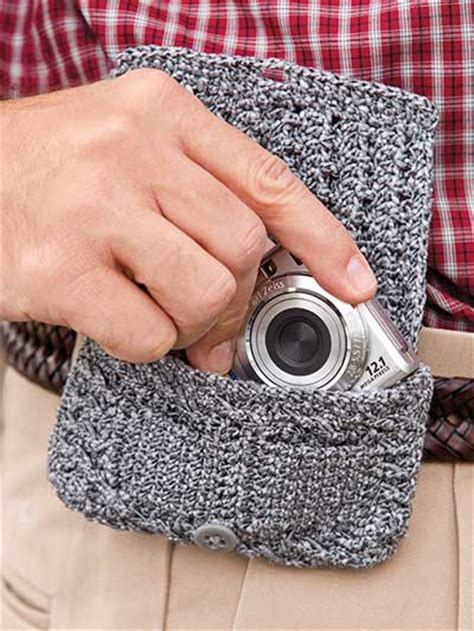 crochet camera bag pattern camera belt bag free crochet pattern