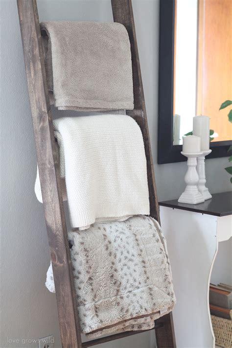 Decorative Ladder For Blankets by Diy Blanket Ladder Grows