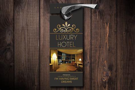luxury hotel door hanger template creative photoshop