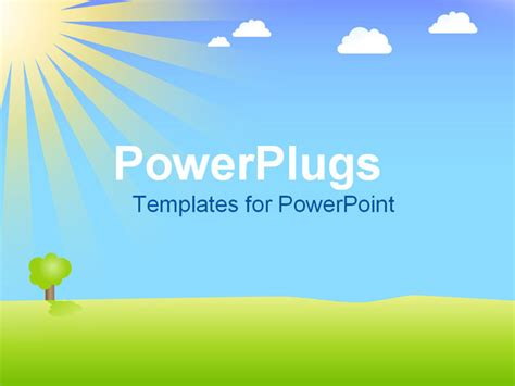 slide templates for powerpoint powerpoint template a depiction of a beautiful day