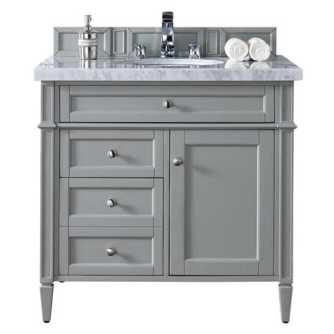Martin Vanity by Martin Signature Vanities 36 In W Single Vanity In Gray With Marble Vanity