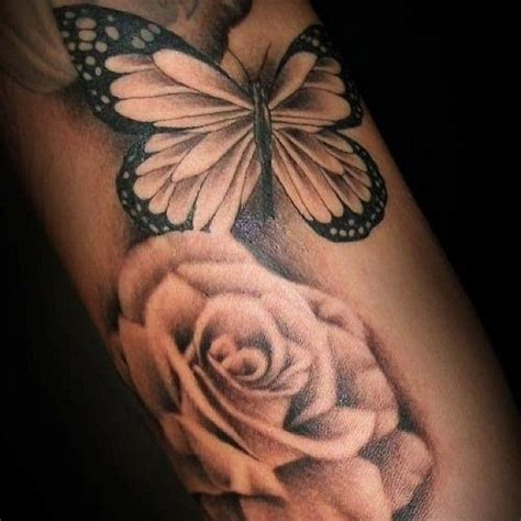 inner arm rose tattoo butterfly and for the inner arm ριєя 162 є αи