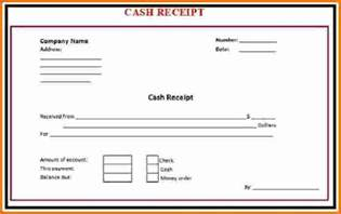 Cash Receipt Template Pdf 8 Cash Receipt Expense Report