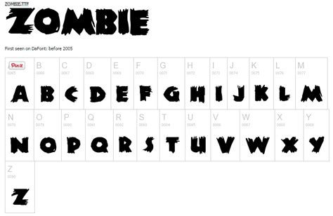 dafont zombified playful and free halloween fonts