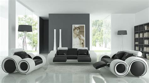 superb Color Ideas For Dining Room Walls #8: Black-White-and-Grey-Living-Room-Design-with-Unique-Sofa-Design-and-Greece-Painting.jpg