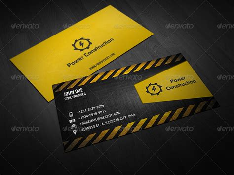 builders business cards designs templates construction business card by owpictures graphicriver