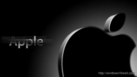 apple black top brands logo background wallpapers