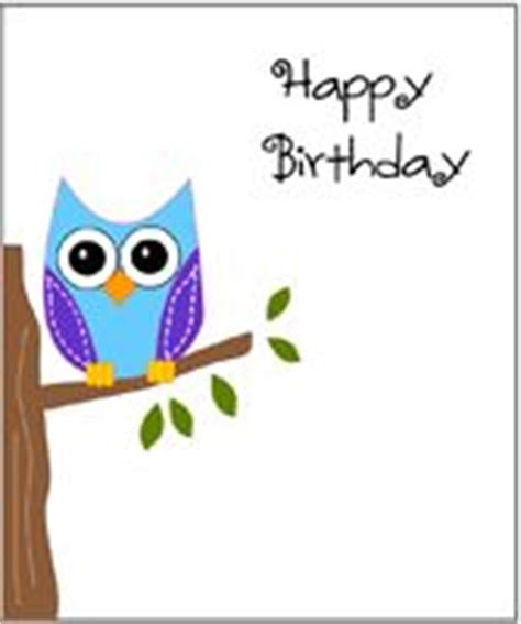 printable owl birthday card 7 best owl clip art images on pinterest