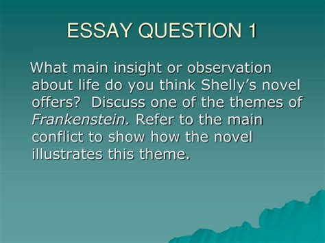 themes of identity in frankenstein ppt essay question 1 powerpoint presentation id 6410979