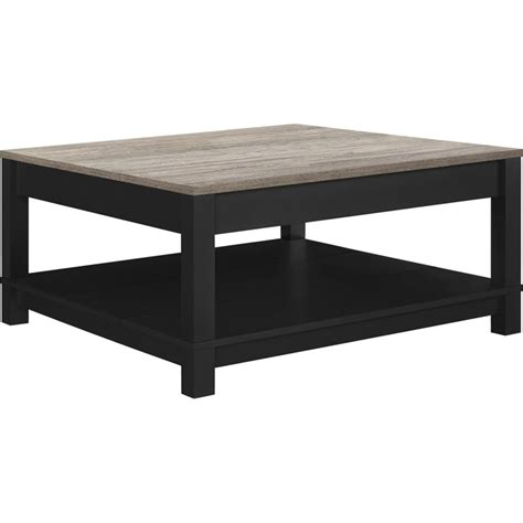 square coffee table in black and sonoma oak 5047196pcom