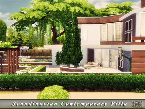 scandinavian villa scandinavian contemporary villa the sims 4