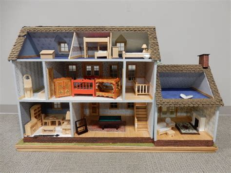 childs dolls house large 1940 s era childs doll house