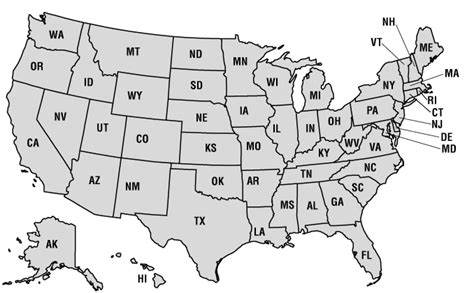 black and white map of united states printable geography us maps with states