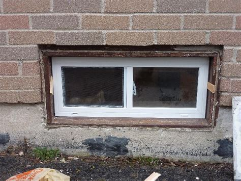 how to replace a basement window replacing a basement window home design