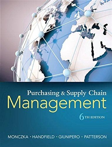 Purchasing Supply Management 9781285869681 purchasing and supply chain management