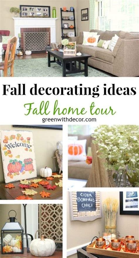 pinterest home decor fall green with decor fall home tour fall decorating ideas