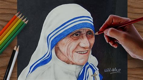 mother teresa easy biography drawing a portrait of mother teresa easy and simple