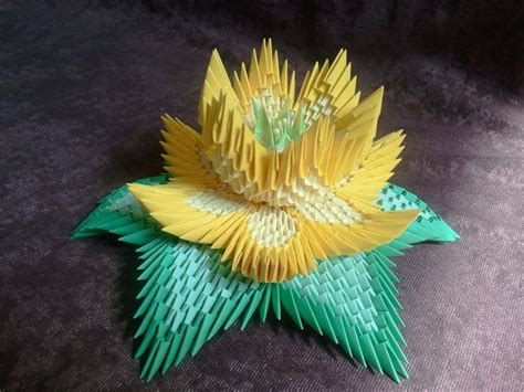 3d Origami Flower - how to make 3d origami lotus flower 3d origami