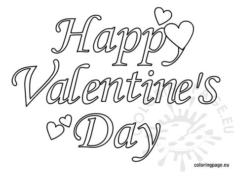 valentines day coloring page happy valentines day 2 coloring page