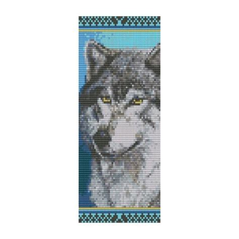 Bead Pattern Wolf Cuff Bracelet Square Loom Or Peyote