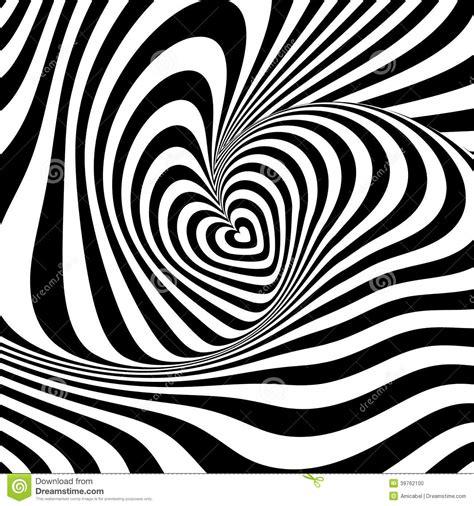 pattern distortion vector design heart vortex rotation illusion background stock