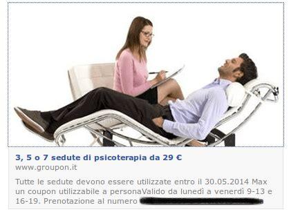 prezzi sedute psicologo groupon