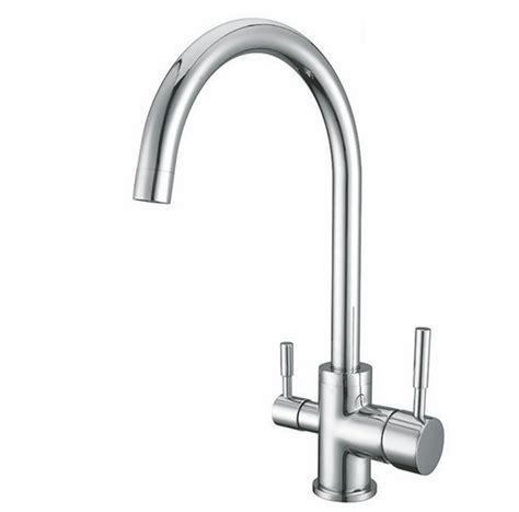 Soft Flow Kitchen Taps by Osmio Chrome 3 Way Tri Flow Kitchen Tap