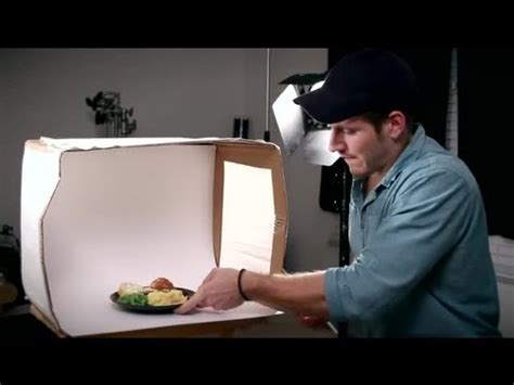 how to make a lightbox to photograph food tips for